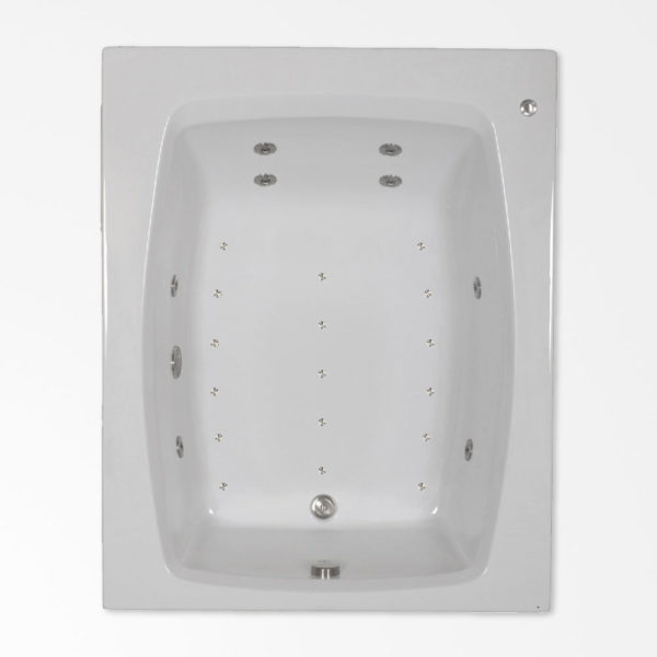 60 by 48 Whirlpool and Air jetted bath combo tub
