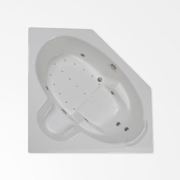 60 by 60 corner combo bathtub