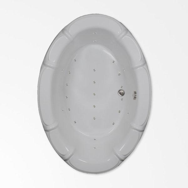 68 by 48 Oval Air Bath / Air Jetted tub