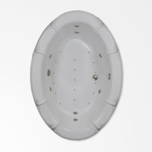 68 by 48 oval combo bath tub